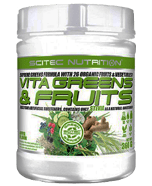 Vita Greens & Fruits (360 grs.) | scitecnutrition.cl